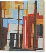 Brooklyn Abstract Wood Print