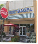 Brooklyn Bagel Restaurant In Delray Beach. Florida. Wood Print