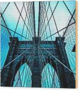 Brooklyn Blues Wood Print