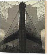 Brooklyn Bridge Abstract Wood Print