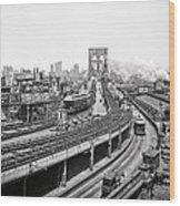 Brooklyn Bridge And Terminal - 1903 Wood Print