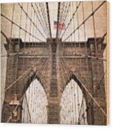 Brooklyn Bridge Approach Wood Print