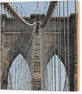Brooklyn Bridge Cables Nyc Wood Print