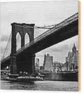Brooklyn Bridge Circa 1955 Wood Print
