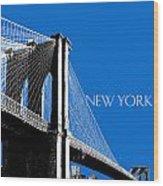Brooklyn Bridge Wood Print by DB Artist