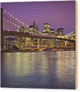 Brooklyn Bridge Wood Print by Inge Johnsson