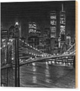 Brooklyn Bridge New York Wood Print