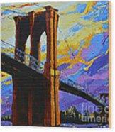 Brooklyn Bridge New York Landmark Wood Print