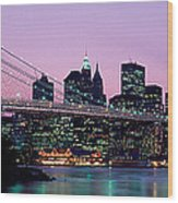 Brooklyn Bridge New York Ny Usa Wood Print