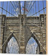 Brooklyn Bridge Ny Wood Print