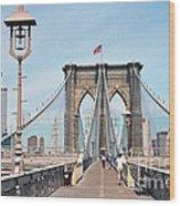 Brooklyn Bridge - New York Wood Print
