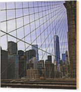 Brooklyn Bridge View Wood Print