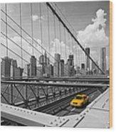 Brooklyn Bridge View Nyc Wood Print