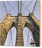 Brooklyn Bridge01 Wood Print