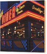 Brooklyn Diner Usa Wood Print