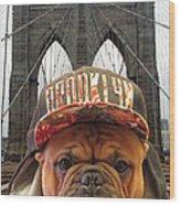 Brooklyn Dog Wood Print