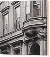 Brooklyn Heights -  N Y C - Classic Building And Bike Wood Print