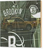 Brooklyn Nets Wood Print by Karol Livote