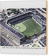 Brooklyn - New York - Flatbush - Ebbets Field - 1940 Wood Print