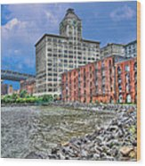 Brooklyn Old Tobacco Warehouse Wood Print