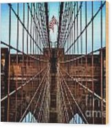 Brooklyn Perspective Wood Print by Az Jackson