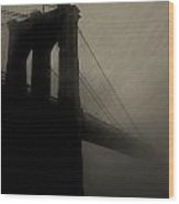 Brooklyn Shadows Wood Print