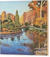 Brookside Garden Wood Print