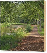 Brookside Garden Walk Wood Print