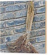 Broom, China Wood Print