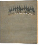 Broome Camel Train Wood Print