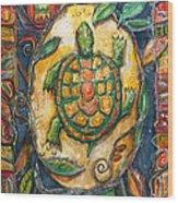 Brother Turtle Vi Wood Print