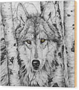 Brother Wolf Wood Print
