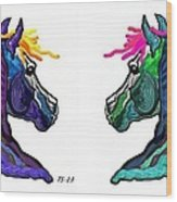 Brothers In Colors Wood Print