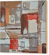 Brown Alley 1 Wood Print