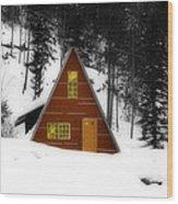 Brown Cabin  Wood Print