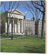 Brown Campus Manning Hall Wood Print