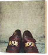 Brown Children Shoes Wood Print