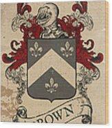 Brown Coat Of Arms - Scotland Wood Print