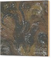 Brown Color Of Energy Wood Print by Ania Milo