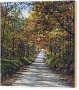 Brown County Lane Wood Print