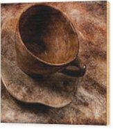 Brown Cup  Wood Print
