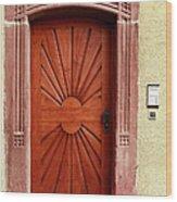 Brown Door Exterior Entrance Wood Print