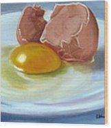 Brown Egg Study Wood Print