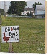 Brown Eggs Wood Print