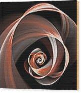 Brown Flirt Wood Print