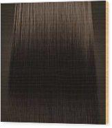 Brown Hair Perfect Straight Wood Print