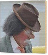 Brown Hat Wood Print