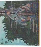 Brown Island Greens Wood Print