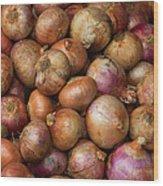 Brown Onions Wood Print