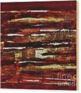 Brown Red And Golds Abstract Wood Print